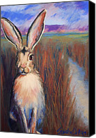 Rabbit Pastels Canvas Prints - Safe for the Moment Canvas Print by Sandra Ortega