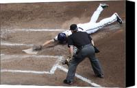 Baseball Canvas Prints - Safe Canvas Print by Lauri Novak