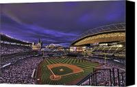 Seattle Tapestries Textiles Canvas Prints - Safeco Field Canvas Print by Dan McManus