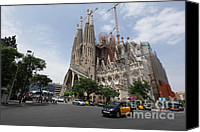 Europe Pyrography Canvas Prints - Sagrada Familia Barcelona Canvas Print by Xavier Torres