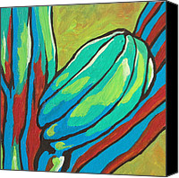 Bud Painting Canvas Prints - Saguaro 15 Canvas Print by Sandy Tracey