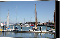 Yachts Canvas Prints - Sail Boats At The San Francisco Marina - 5D18171 Canvas Print by Wingsdomain Art and Photography