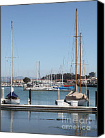 Yachts Canvas Prints - Sail Boats At The San Francisco Marina - 5D18173 Canvas Print by Wingsdomain Art and Photography