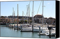 Yachts Canvas Prints - Sail Boats At The San Francisco Marina - 5D18190 Canvas Print by Wingsdomain Art and Photography