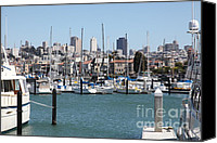 Yachts Canvas Prints - Sail Boats At The San Francisco Marina - 5D18195 Canvas Print by Wingsdomain Art and Photography