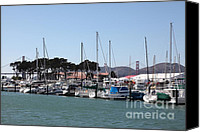 Yachts Canvas Prints - Sail Boats At The San Francisco Marina - 5D18261 Canvas Print by Wingsdomain Art and Photography