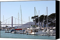 Yachts Canvas Prints - Sail Boats At The San Francisco Marina - 5D18263 Canvas Print by Wingsdomain Art and Photography