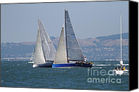 Yachts Canvas Prints - Sail Boats on The San Francisco Bay - 7D18323 Canvas Print by Wingsdomain Art and Photography