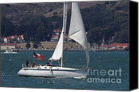 Yachts Canvas Prints - Sail Boats on The San Francisco Bay - 7D18326 Canvas Print by Wingsdomain Art and Photography