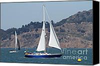 Yachts Canvas Prints - Sail Boats on The San Francisco Bay - 7D18331 Canvas Print by Wingsdomain Art and Photography