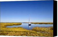 Sailboat Canvas Prints - Sailboat on Cape Cod Bay Canvas Print by John Greim