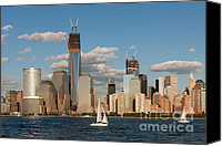 Sailboat Canvas Prints - Sailboats on the Hudson III Canvas Print by Clarence Holmes