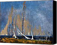 Arne J Hansen Canvas Prints - Sailing Canvas Print by Arne Hansen
