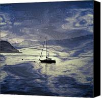 Lago Canvas Prints - Sailing Boat Canvas Print by Joana Kruse
