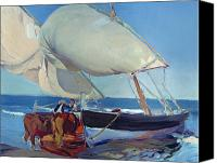 Sailboat Canvas Prints - Sailing Boats Canvas Print by Joaquin Sorolla y Bastida