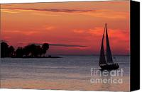 Door County Canvas Prints - Sailing Home Canvas Print by Joel Witmeyer