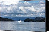 San Juan Prints Canvas Prints - Sailing in the San Juans Canvas Print by Carol Groenen
