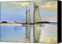 Pink Clouds Digital Art Canvas Prints - Sailing Sailin Away yay yay yay Canvas Print by Byron Fli Walker