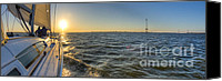 Beneteau Sailboat Canvas Prints - Sailing Sunset Canvas Print by Dustin K Ryan