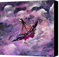 Heavens Canvas Prints - Sailing the Heavens Canvas Print by Rachel Christine Nowicki