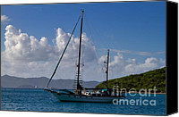 Van Dyke Canvas Prints - Sailing yacht at anchor Canvas Print by Louise Heusinkveld