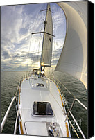 Beneteau Sailboat Canvas Prints - Sailing Yacht Fate Beneteau 49 Canvas Print by Dustin K Ryan