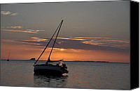 Tampa Digital Art Canvas Prints - Sailors Sunset Canvas Print by Bill Cannon