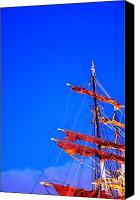 Malmo Digital Art Canvas Prints - Sails Canvas Print by Barry R Jones Jr