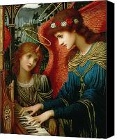 Christianity Canvas Prints - Saint Cecilia Canvas Print by John Melhuish Strukdwic