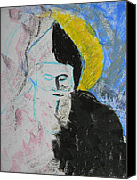 Fine Photography Art Drawings Canvas Prints - Saint Charbel Canvas Print by Marwan George Khoury