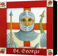 St George Canvas Prints - Saint George Canvas Print by Paul Helm