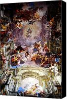 Loyola Canvas Prints - Saint Ignatius Loyola Ceiling Canvas Print by John Rizzuto