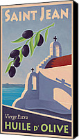 Olive Oil Canvas Prints - Saint Jean Olive Oil Canvas Print by Mitch Frey