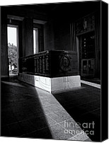 White Photo Special Promotions - Saint Louis Soldiers Memorial Black and White Canvas Print by Joshua House