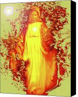 Queen Of Heaven Canvas Prints - Saint Mary No. 03 Canvas Print by Ramon Labusch