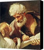 Vatican Painting Canvas Prints - Saint Matthew Canvas Print by Guido Reni