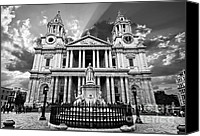 Christopher Wren Canvas Prints - Saint Pauls Cathedral Canvas Print by Meirion Matthias