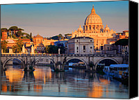 City Streets Canvas Prints - Saint Peters Basilica Canvas Print by Inge Johnsson