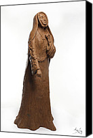 Tree Sculpture Canvas Prints - Saint Rose Philippine Duchesne Canvas Print by Adam Long