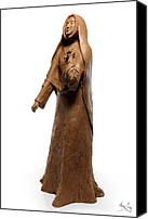 Tree Sculpture Canvas Prints - Saint Rose Philippine Duchesne sculpture Canvas Print by Adam Long
