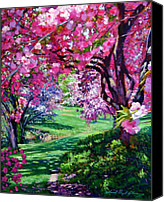 Plein Canvas Prints - Sakura Romance Canvas Print by David Lloyd Glover