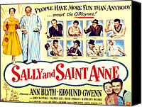 1950s Poster Art Canvas Prints - Sally And Saint Anne, Left Corner, Ann Canvas Print by Everett