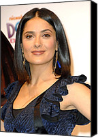 Dangly Earrings Canvas Prints - Salma Hayek At A Public Appearance Canvas Print by Everett