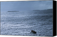 Achill Island Canvas Prints - Salmon Fishermen Rowing Out To Check Canvas Print by Paul Nicklen