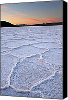 Death Valley National Park Canvas Prints - Salt formations at Badwater in Death valley Canvas Print by Pierre Leclerc
