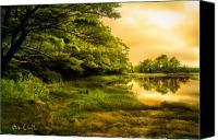 Spiritual Photo Canvas Prints - Salt Marsh Kittery Maine Canvas Print by Bob Orsillo