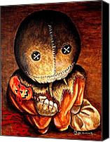 Monster Painting Canvas Prints - Sam Canvas Print by Al  Molina