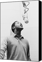 Music Photo Canvas Prints - Sam Cooke, 1931-1964 Singing Canvas Print by Everett