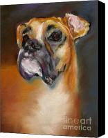 Boxer Pastels Canvas Prints - Sam Canvas Print by Frances Marino
