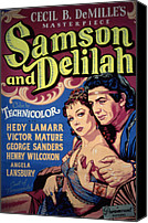 Fid Canvas Prints - Samson And Delilah, Hedy Lamarr, Victor Canvas Print by Everett